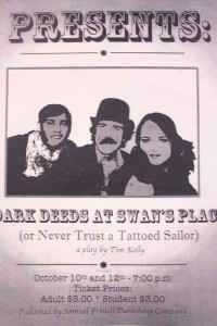 "Theater to Perform ""Dark Deeds at Swan's Place"""