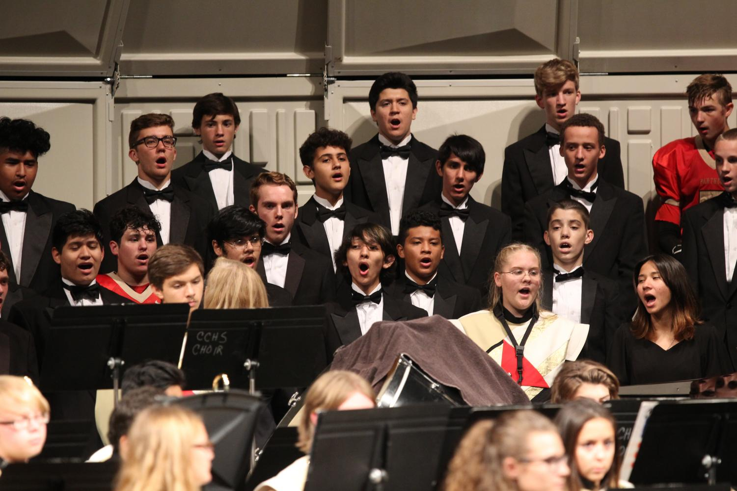 That Bass. The choir performs at Caney Creek High School's auditorium Nov. 8.