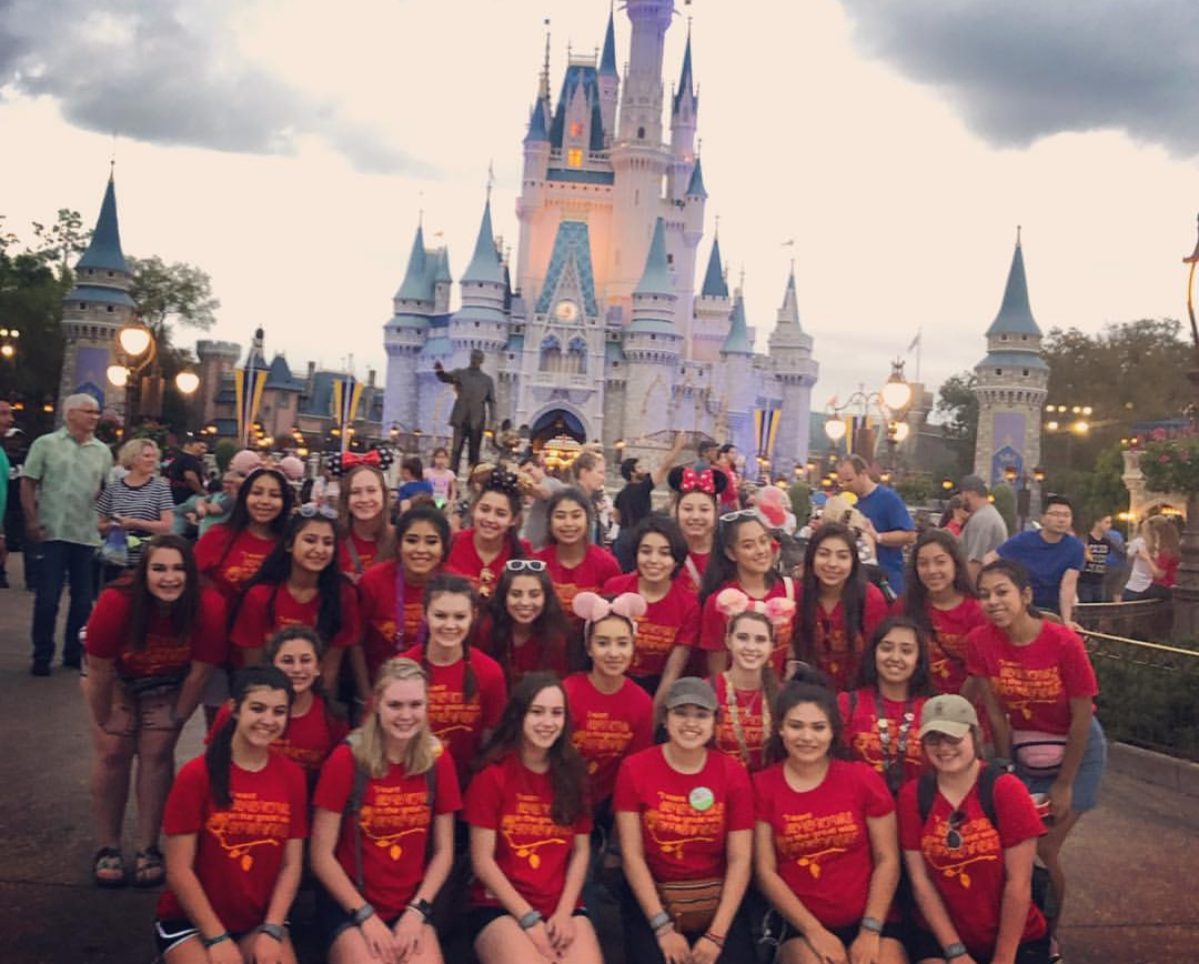 DISNEY DAY. The starlettes explored Magic Kingdom and saw Fantasmis at Hollywood studios before heading back to the hotel and waking up early for practice.