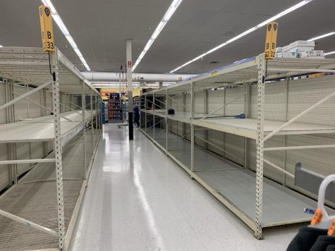 Shelves empty at the Conroe Walmart.
